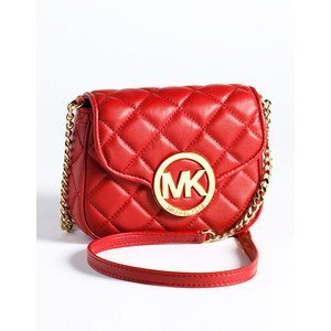 Primary image for Michael Michael Kors Fulton Small Quilted Crossbody Dark Red/gold