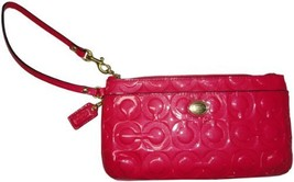 Coach Peyton Op Embossed Patent Leather Go Go Wristlet Pomegranate [Appa... - $172.26