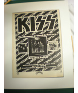 Kiss Advertisement for Dressed to Kill SUPER RARE!! - £44.28 GBP