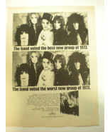 NEW YORK DOLLS ADVERTISEMENT  8x10 Poster FROM THE  70's  A Classic Gem!! - £34.48 GBP