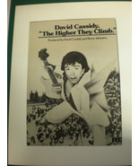 """DAVID CASSIDY 8x10 Poster 70's for """"Higher they Climb"""" ( first solo album) - £34.48 GBP"""