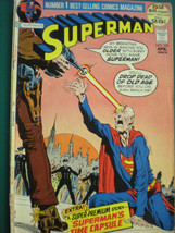 Superman April 1972 A  Classic Gem Vintage Comic  VGFN - $11.29