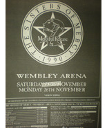 Sisters of Mercy 1990 English Concert Advertisement - £34.48 GBP