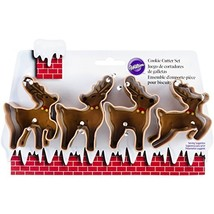 Wilton 4-Piece Christmas Small Reindeer Metal Cookie Cutter Set  - $62.00