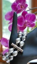 Ann Taylor Faux Tahitian Pearl & Silvertone Bracelet NEW - $10.84