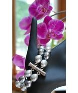 Ann Taylor Faux Tahitian Pearl & Silvertone Bracelet NEW - $15.00