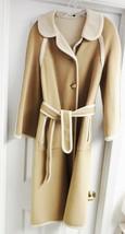 Denise England  Women's Wool Coat Jacket Unlined Belt Beige Cream M (?) ... - $79.94