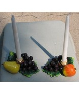Grapes, Pear and Apple Alabastrite candlestick holders - $22.99