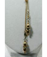 Vintage Sarah Cov Coventry gold tone crystal rhinestine drop lariat neck... - $24.00