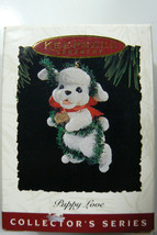 Hallmark Keepsake 1994 Puppy Love 4 Th In Series Poodle Dog Puppy Ornament - $35.00