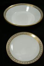 Lot of 2 dish bowl set Wedgwood T. Goode Fine Bone China England white &... - $69.00
