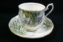 Royal Albert England Bone China Snowdrop Flower pattern Tea Cup & Saucer... - $39.00