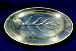 W.M. Rogers Silver Plated Serving Tray Oval Platter Family Live tree Har... - $35.00