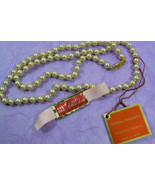 "25""L Menorca Pearls Japan NWT Cream 7mm hand knotted Pearl faux Necklace - $39.20"