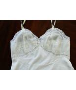 VTG Elegance Vanity Fair White lace nylon tricot sz 34 Slip Gown Lingerie - $65.00