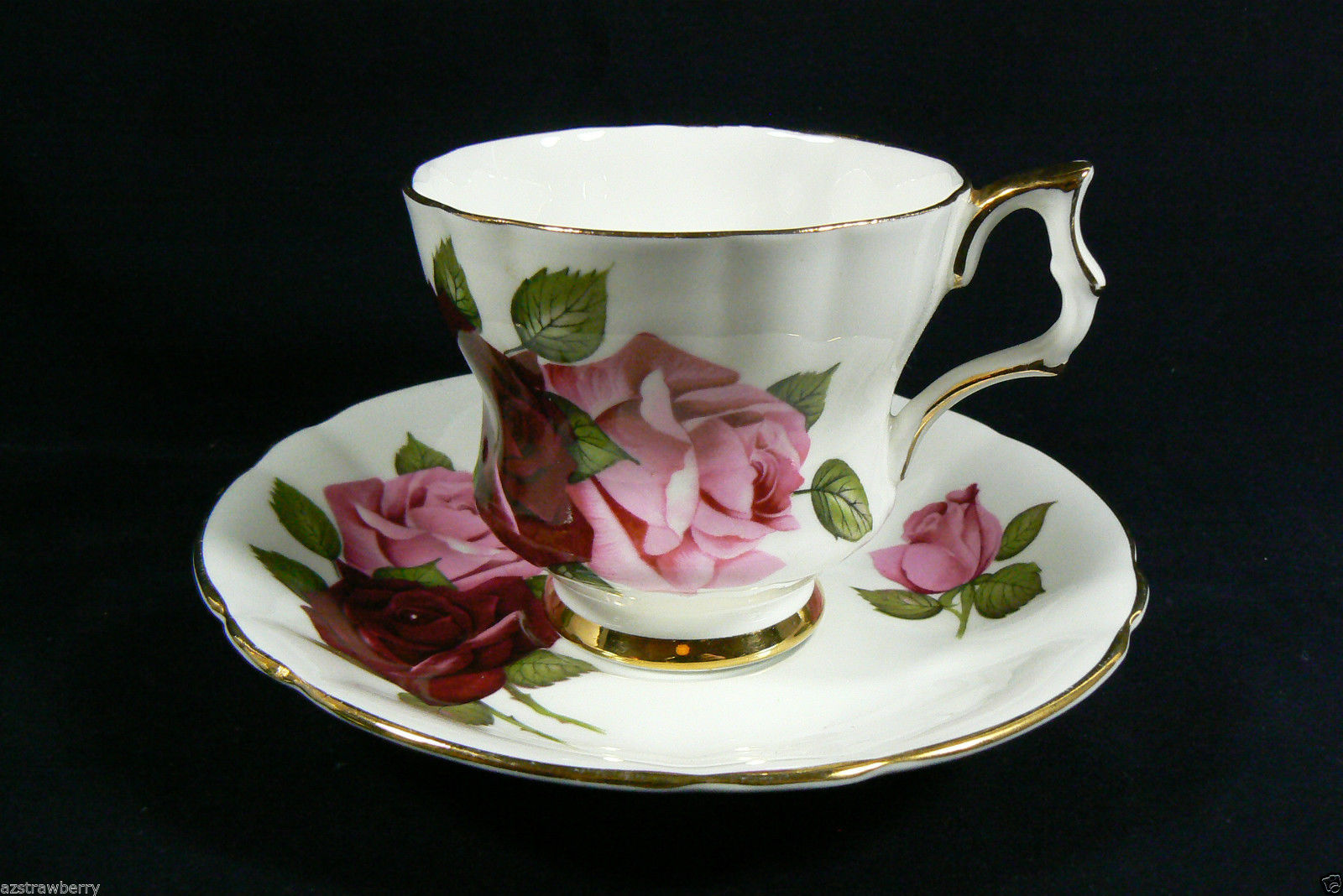 windsor fine bone china made in england pink roses tea cup saucer set other. Black Bedroom Furniture Sets. Home Design Ideas
