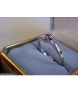 18 K White Gold Round Cut Ruby  Ring Band sz 8 $450 NWT - $183.20