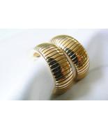 Park Lane signed gold tone metal link half moon earrings - $63.20