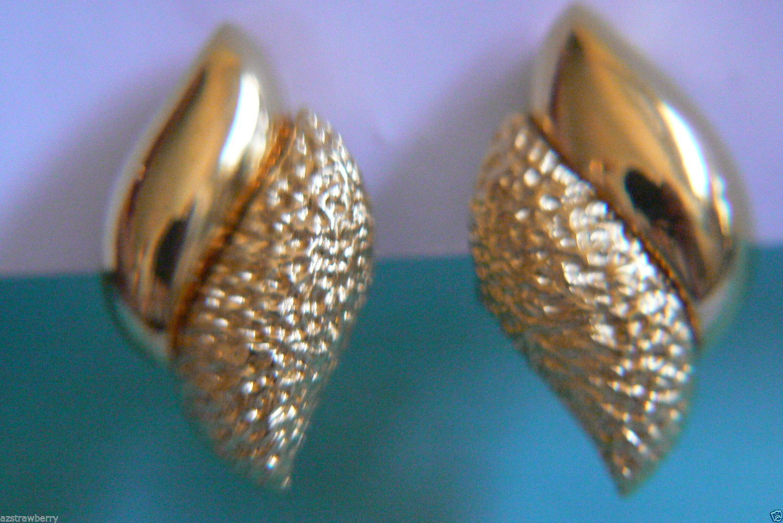 Primary image for RALPH LAUREN ELEGANT GOLD TONE CLIP EARRINGS $0 SHIPPING