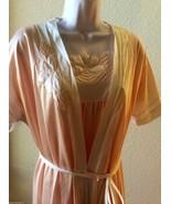 Vtg Pink Pinehurst Lingerie Nylon Chiffon Peignoir & Nightgown Robe Set ... - $95.00