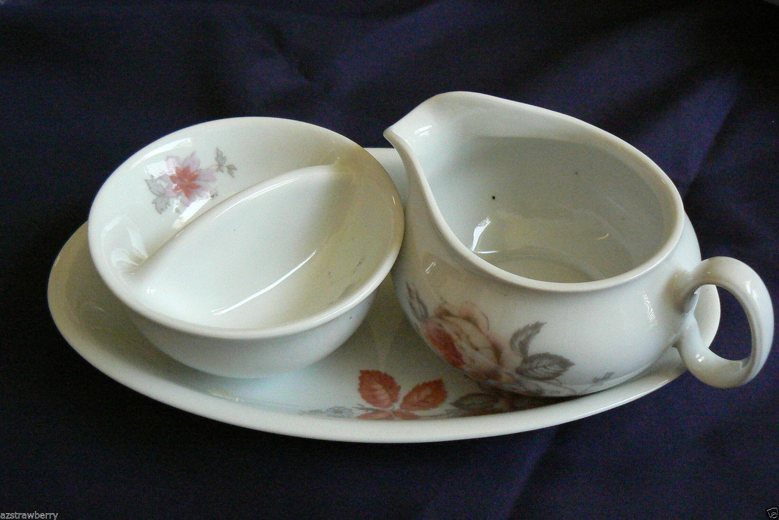 Bohemia Czech Inglazed White Porcelain 3 Pc And 50 Similar