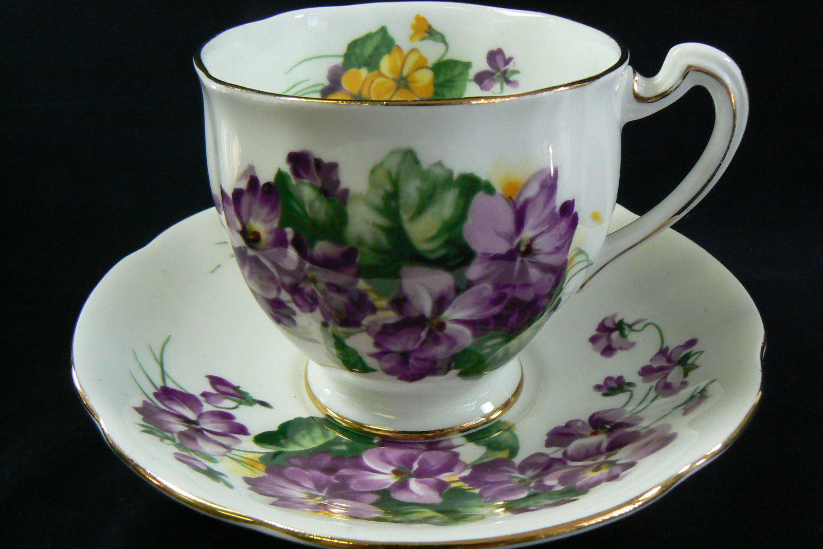 royal standard tea cup saucer lavender lady pattern fine bone china england royal standard. Black Bedroom Furniture Sets. Home Design Ideas