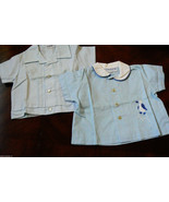 VTG lot of  2 Toddle Tyke Baby in the Carriage by Bo Peep Blye Baby Shirts - $30.00