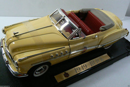 FAIRFIELD MINT 1949 BUICK RAGTOP YELLOW CAR MODEL 1:18 SCALE new - $76.50