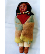VTG Trade Mark  Skookum Billy Good Indian Child Doll necklace blanket Fi... - $135.20