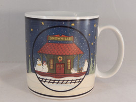 Warren Kimble Coffee Mug Home For The Holidays Snowville Sakura Christmas - $9.89