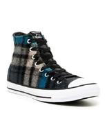 Converse WOOLRICH Wool Teal Grey Black Plaid Lined Hightop Shoes Unisex ... - $72.99