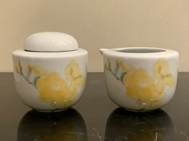 Dansk Fine China Freesia Pattern Portugal Creamer and Lidded Sugar Bowl - $79.00