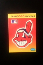 Baseball Cards -- Cleveland Indians -- 1991 Fleer -- MLB Team Logo Stickers - $1.00
