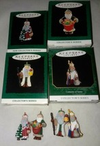 1994-1997 Hallmark Keepsake 4 Mini Christmas Ornament Centuries of Santa's  - $16.99