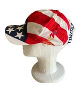 VINTAGE 1996 OLYMPIC GAMES HAT CAP SNAPBACK HANES AMERICAN FLAG ATLANTA USA - $23.18