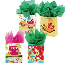 7 1/2W x 9H x 4G Medium Hoot Hoot Owl Family Matte Gift Bags, 4 Designs,... - $180.00