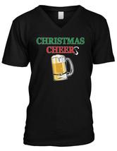 Christmas Cheers - Beer Mug Drinking Party Fun Xmas Mens V-neck T-shirt - $40.50
