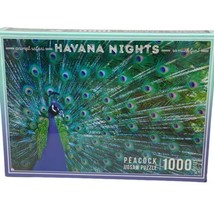 Peacock 1000 Piece Puzzle Havana Nights Animal Safari Jigsaw Peafowl - $21.34