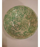 STANGL TOWN & COUNTRY GREEN SPONGEWARE HAND PAINTED CEREAL SOUP BOWL VIN... - $19.75