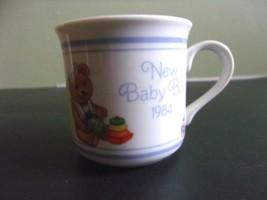 Vintage 1984 Hallmark New Baby Boy Coffee Mug 1984 Made in Japan - $15.00