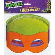 Teenage Mutant Ninja Turtles Masks 8 pack Favors Party TMNT - $5.11 CAD