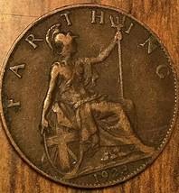1923 UK GB GREAT BRITAIN ONE FARTHING - $2.94