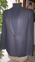 Talbots classic black lined blazer jacket size 8 womens  one button ca 23147 - $18.67