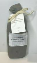 Restoration Hardware Stonewashed Cotton Linen King Sham Graphite NEW $99 - $39.99