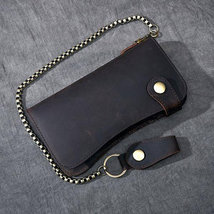 On Sale, Horse Leather Long Wallet, Card Holder Wallet, Long Chain Wallet image 3