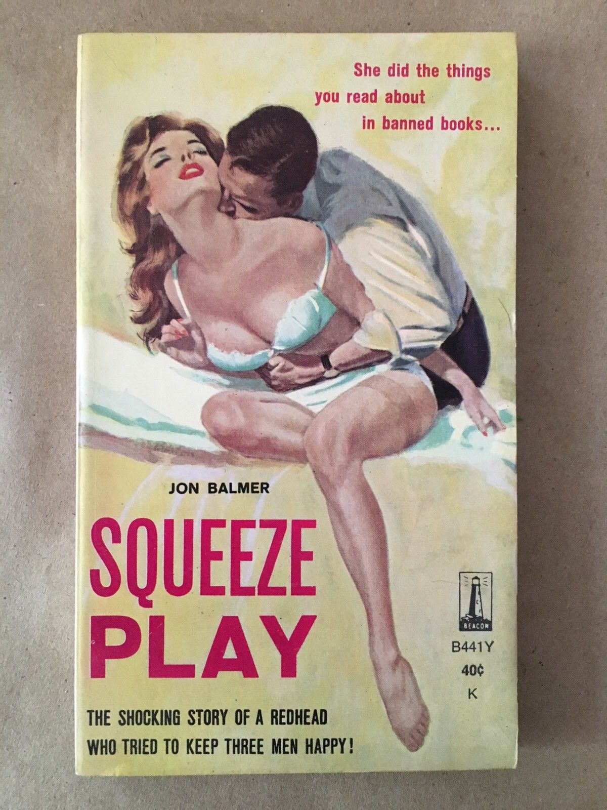 Jon Balmer / Squeeze Play First Edition 1961 Sleaze Paperbacks #111321