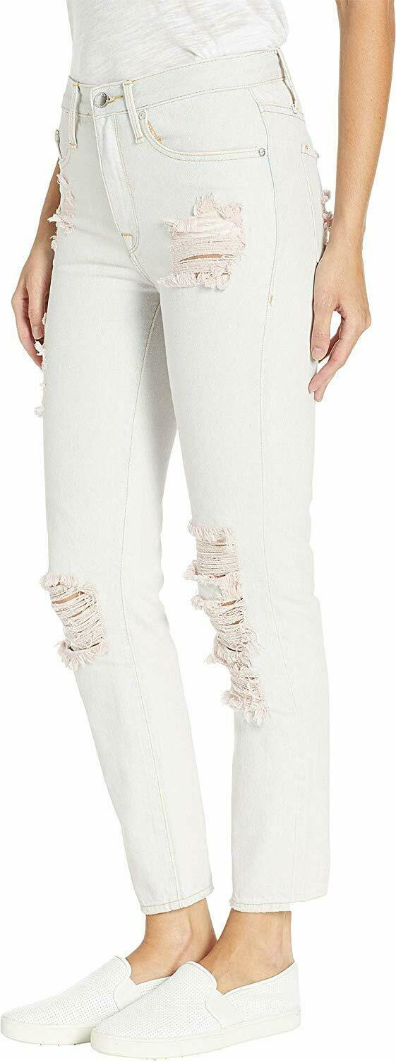 Juicy Couture Women'S Pink Pigment Distressed Girlfriend Jeans image 2