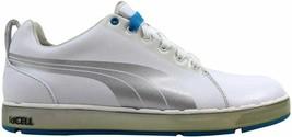 Puma HC Lux White/Puma Silver-Vivid Blue 185831 01 Men's - $71.87