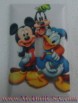Mickey mouse Donald Duck Goofy Pluto Switch Outlet Wall Cover Plate Home decor