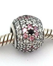 Authentic Pandora Shimmering Blossoms Charm, Clear/Pink CZ, 791129CZ - $37.99